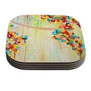 KESS InHouse Summer in Bloom by Ebi Emporium Coaster (Set of 4)