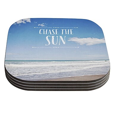 KESS InHouse Chase the Sun by Susannah Tucker Coaster (Set of 4)