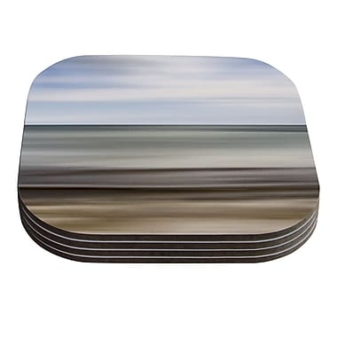 KESS InHouse Abstract Beach by Iris Lehnhardt Coaster (Set of 4)