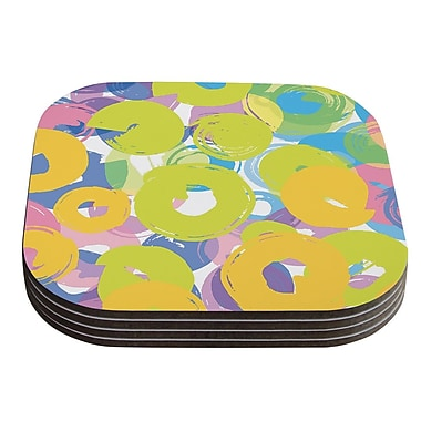 KESS InHouse Circle Me by Emine Ortega Coaster (Set of 4)