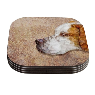 KESS InHouse Abstract Beagle by Ancello Geometric Coaster (Set of 4)