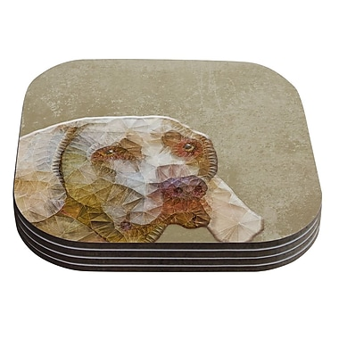 KESS InHouse Abstract Dog by Ancello Geometric Coaster (Set of 4)