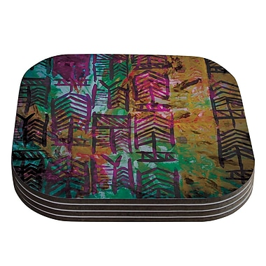 KESS InHouse Quiver IV by Theresa Giolzetti Coaster (Set of 4)