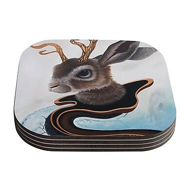 KESS InHouse Lucid Jack by Graham Curran Coaster (Set of 4)