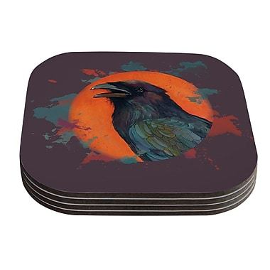 KESS InHouse Raven Sun Alternate by Lydia Martin Coaster (Set of 4)