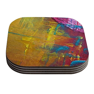 KESS InHouse Cityscape Abstracts III by Malia Shields Coaster (Set of 4)
