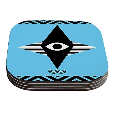KESS InHouse Eye Graphic by Vasare Nar Coaster (Set of 4)