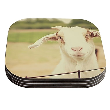 KESS InHouse Happy Goat by Angie Turner Coaster (Set of 4)