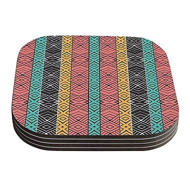 KESS InHouse Artisian by Pom Graphic Design Coaster (Set of 4)