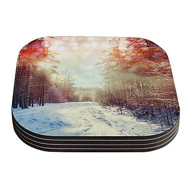 KESS InHouse Winter Walkway by Snap Studio Snowy Coaster (Set of 4)
