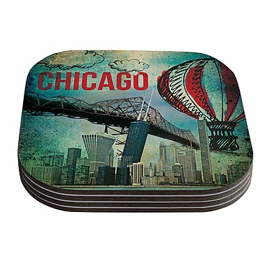 KESS InHouse Chicago by iRuz33 Coaster (Set of 4)