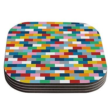 KESS InHouse Bricks by Project M Coaster (Set of 4)