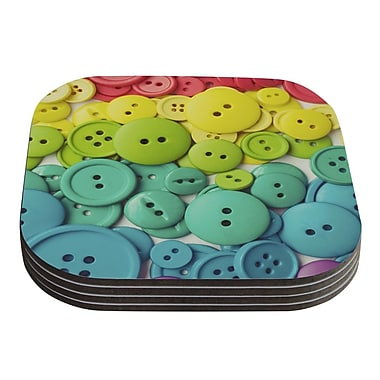 KESS InHouse Cute As A Button by Libertad Leal Coaster (Set of 4)