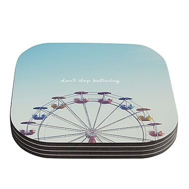 KESS InHouse Don't Stop Believing by Libertad Leal Coaster (Set of 4)