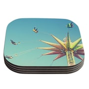 KESS InHouse Flying Chairs by Libertad Leal Coaster (Set of 4)