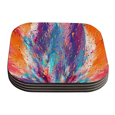 KESS InHouse Colorful Fire by Danny Ivan Coaster (Set of 4)
