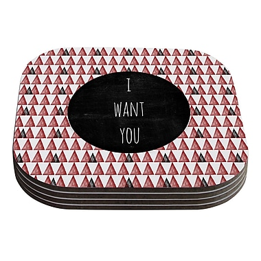 KESS InHouse I Want You by Skye Zambrana Coaster (Set of 4)