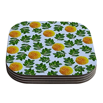 KESS InHouse More Marigold by Sreetama Ray Coaster (Set of 4)