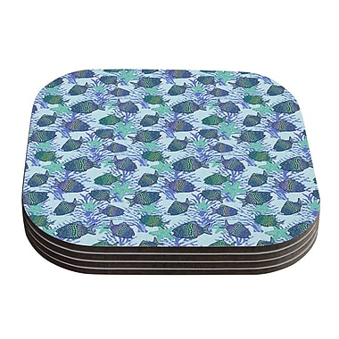 KESS InHouse My Colorful Fishes by Julia Grifol Coaster (Set of 4)