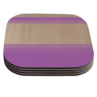 KESS InHouse Art by Brittany Guarino Coaster (Set of 4); Purple