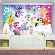 Room Mates Prepasted My Little Pony Cloud XL Chair Rail Ultra-strippable Wall Mural