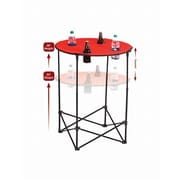 Picnic Plus by Spectrum Scrimmage Tailgate Table; Red