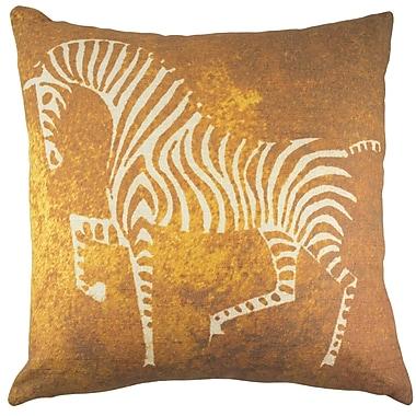TheWatsonShop Zebra Cotton Throw Pillow; Copper