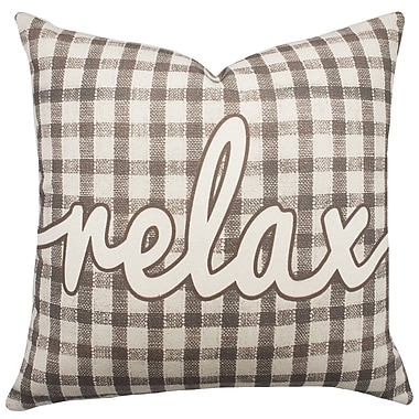 TheWatsonShop Relax Plaid Cotton Throw Pillow