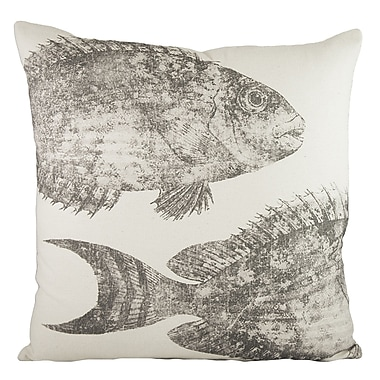 TheWatsonShop Swimming Fish Cotton Throw Pillow