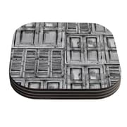 KESS InHouse Close the Door by Snap Studio Gray Coaster (Set of 4)