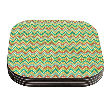 KESS InHouse Bright And Bold by Pom Graphic Design Coaster (Set of 4)