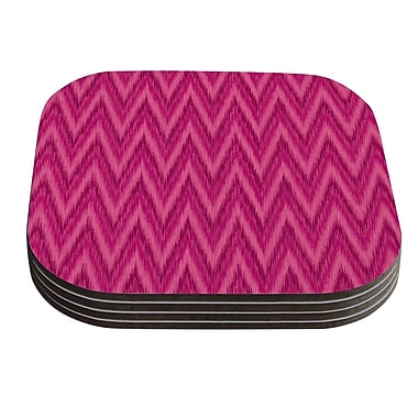 KESS InHouse Berry Chevron by Amanda Lane Coaster (Set of 4)