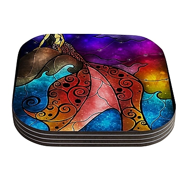 KESS InHouse Fairy Tale Mermaid by Mandie Manzano Coaster (Set of 4)