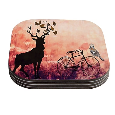 KESS InHouse Vintage Forest by Suzanne Carter Coaster (Set of 4)