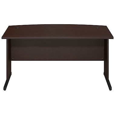 Bush® Business Westfield Elite 60W x 36D C-Leg Bow Front Desk, Mocha Cherry
