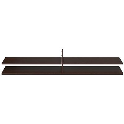 Bush Business Westfield Elite 72W x 15D Standing Table Desk Shelf Kit, Mocha Cherry, Installed