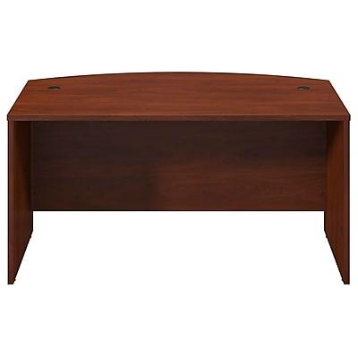 Bush Business Furniture Westfield Elite 60W x 36D Bow Front Desk, Hansen Cherry (WC24505)