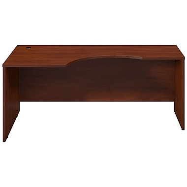 Bush® Business Westfield Elite 72W x 24 to 36D Left Corner Desk Shell, Hansen Cherry