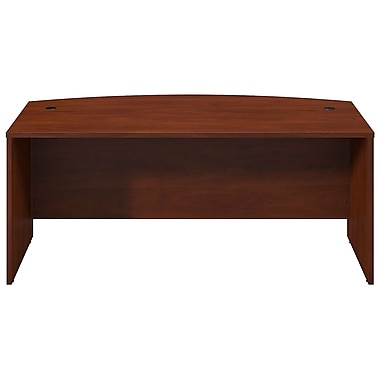 Bush® Business Westfield Elite 72W x 36D Bow Front Desk Shell, Hansen Cherry