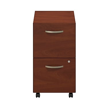 Bush® Business Westfield Elite 2-Drawer Mobile Pedestal, Hansen Cherry, Pre Assembled