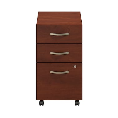 Bush® Business Westfield Elite 3-Drawer Mobile Pedestal, Hansen Cherry, Pre Assembled