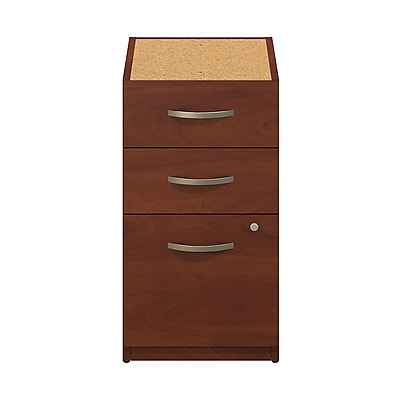 Bush Business Furniture Westfield Elite 16W 3 Drawer Pedestal, Hansen Cherry, Assembled (WC24555SU)