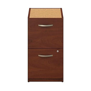 Bush® Business Westfield Elite 16W 2-Drawer Pedestal, Hansen Cherry, Pre Assembled