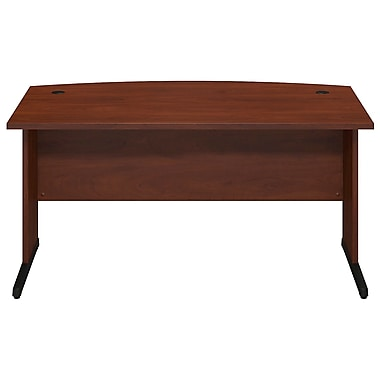 Bush® Business Westfield Elite 60W x 36D C-Leg Bow Front Desk, Hansen Cherry