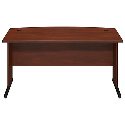 Bush Business Furniture Westfield Elite 60W x 36D C-Leg Bow Front Desk, Hansen Cherry (WC24565FA)