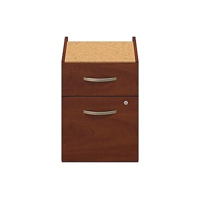 Bush Business Furniture Westfield Elite 2 Drawer 3/4 Pedestal, Hansen Cherry, Assembled (WC24590SU)