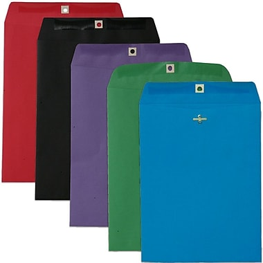 JAM Paper® 9 x 12 Open End Catalog Envelopes with Clasp Closure, Brite Hue Assorted, 50/pack (87326)