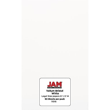 Jam PaperMD — papier cartonné, taille légale, Bristol blanc, 50/paquet