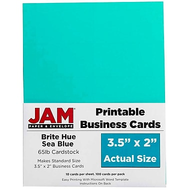 JAM Paper® Printable Business Cards, 3 1/2
