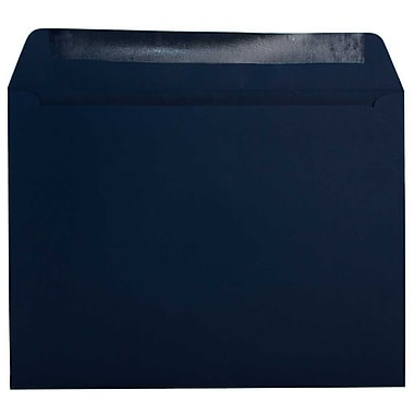 JAM Paper® 9.5 x 12.63 Booklet Envelopes, Navy Blue, 1000/Pack (63928407C)